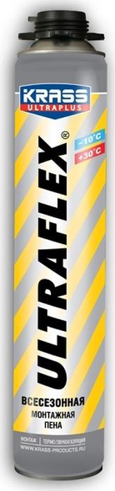 Фото - Монтажная пена Krass Ultraflex, пистолетная, всесезонная, 4814016002479, 0.7 л материалы для стен и потолка