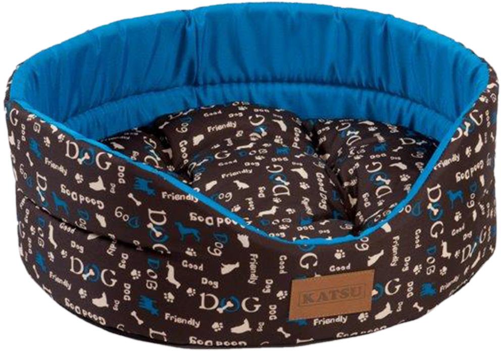 Лежак для животных Katsu Yohanka Shine Dogs, 70397, синий, 64 х 56 х 23 см