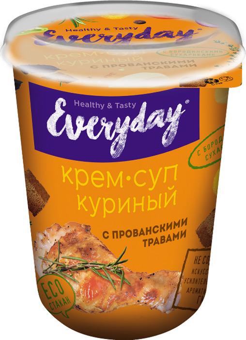 Суп-пюре быстрого приготовления Everyday, куриный с прованскими травами и бородинскими сухариками, 32 г недорого