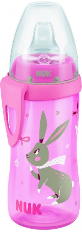 Поильник NUK с насадкой для питья, для активных детей, от 1 года, 300 мл, 10255078-Розовый