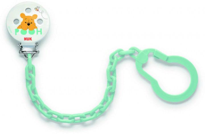 Цепочка для соски-пустышки NUK Disney, 10256256-Винни зеленый аксессуары для кормления nuk для мытья бутылочек и сосок 2 в 1