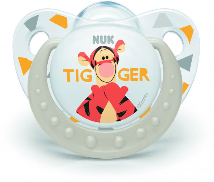 Пустышка NUK Trendline Disney, силиконовая, от 6 месяцев, 10735572-Белый пустышка nuk trendline disney латексная от 0 месяцев 10725876 оранжевый