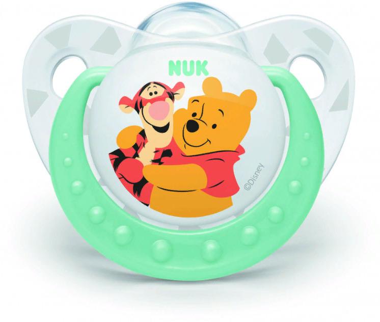 Пустышка NUK Trendline Disney, силиконовая, от 6 месяцев, 10735572-Зелёный пустышка nuk trendline disney латексная от 0 месяцев 10725876 оранжевый