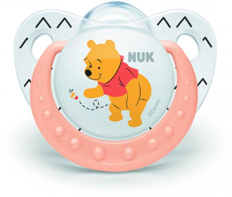 Пустышка NUK Trendline Disney, силиконовая, от 6 месяцев, 10735572-Оранжевый