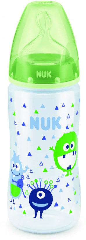 Бутылочка для кормления NUK First Choice Plus, с силиконовой соской, от 0 месяцев, 300 мл, 10741578-Монстр зеленый бутылочка для кормления nuk first choice plus с силиконовой соской от 0 месяцев 150 мл 10743538 монстр зеленый
