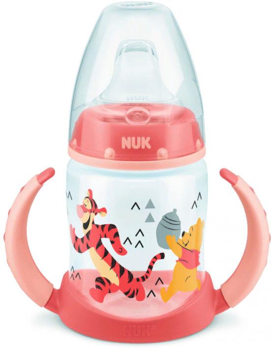 Бутылочка для кормления учебная NUK Disney First Choice, с силиконовой соской, от 6 месяцев, 150 мл, 10743348-Бегущий оранжевый поильники nuk first choice disney пластик 150 мл с силиконовой насадкой микки маус