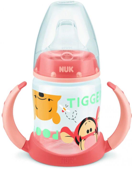 Бутылочка для кормления учебная NUK Disney First Choice, с силиконовой соской, от 6 месяцев, 150 мл, 10743348-Сверху вниз оранжевый NUK