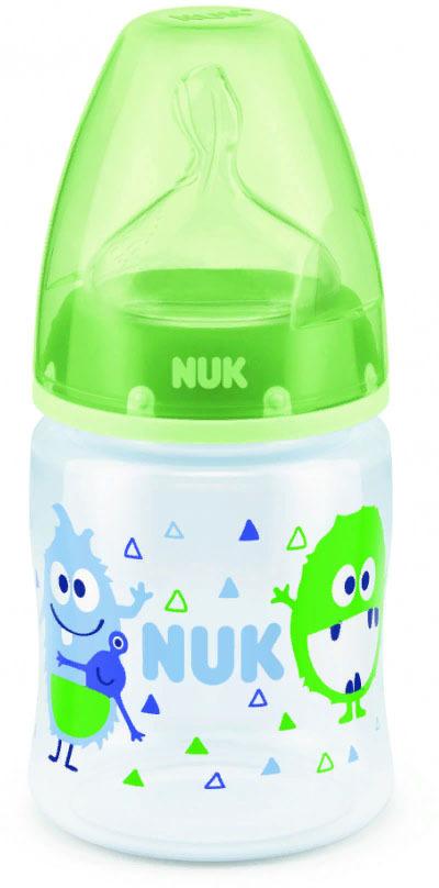 Бутылочка для кормления NUK First Choice Plus, с силиконовой соской, от 0 месяцев, 150 мл, 10743538-Монстр зеленый бутылочка для кормления nuk first choice plus с силиконовой соской от 0 месяцев 150 мл 10743538 монстр зеленый