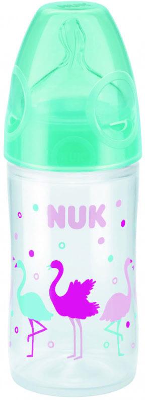 Бутылочка для кормления NUK First Choice New Classic, с силиконовой соской FC, от 0 месяцев, 150 мл, 10743769-Фламинго зеленый бутылочки для кормления nuk отзывы