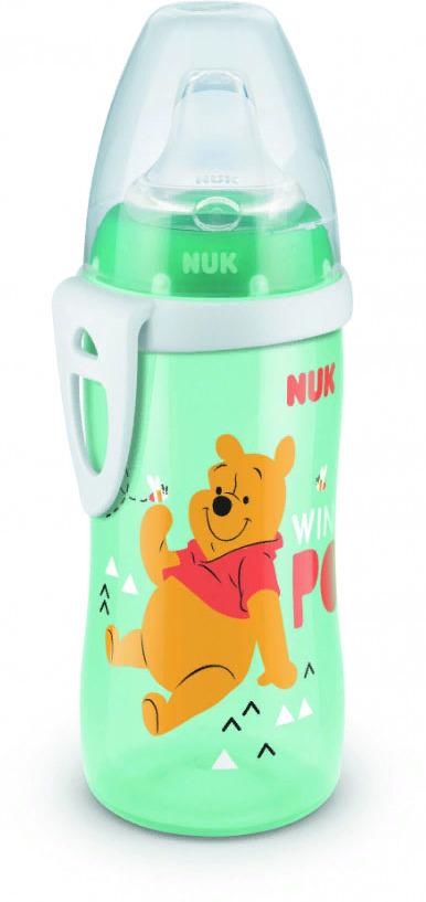 Поильник NUK Disney, для активных детей, от 1 года, 300 мл, 10750413-Винни Пух поильники nuk first choice disney пластик 150 мл с силиконовой насадкой микки маус