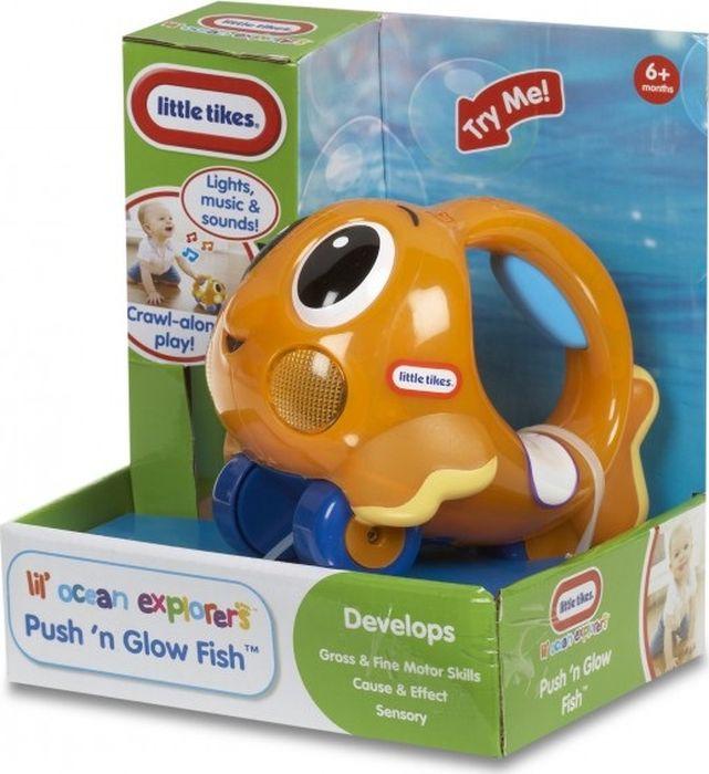 Игрушка-каталка Little Tikes Исследователь океана, 639739E4C, оранжевый игрушка фонарик little tikes панда цвет черный белый