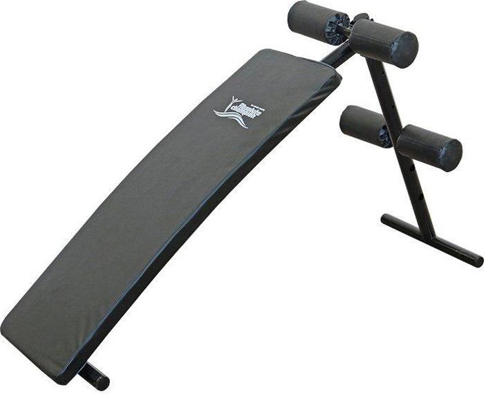 Силовая скамья Absolute Champion, 4690337005913, черный, для пресса, с выгнутой спинкой скамья для пресса изогнутая sport elite r0910