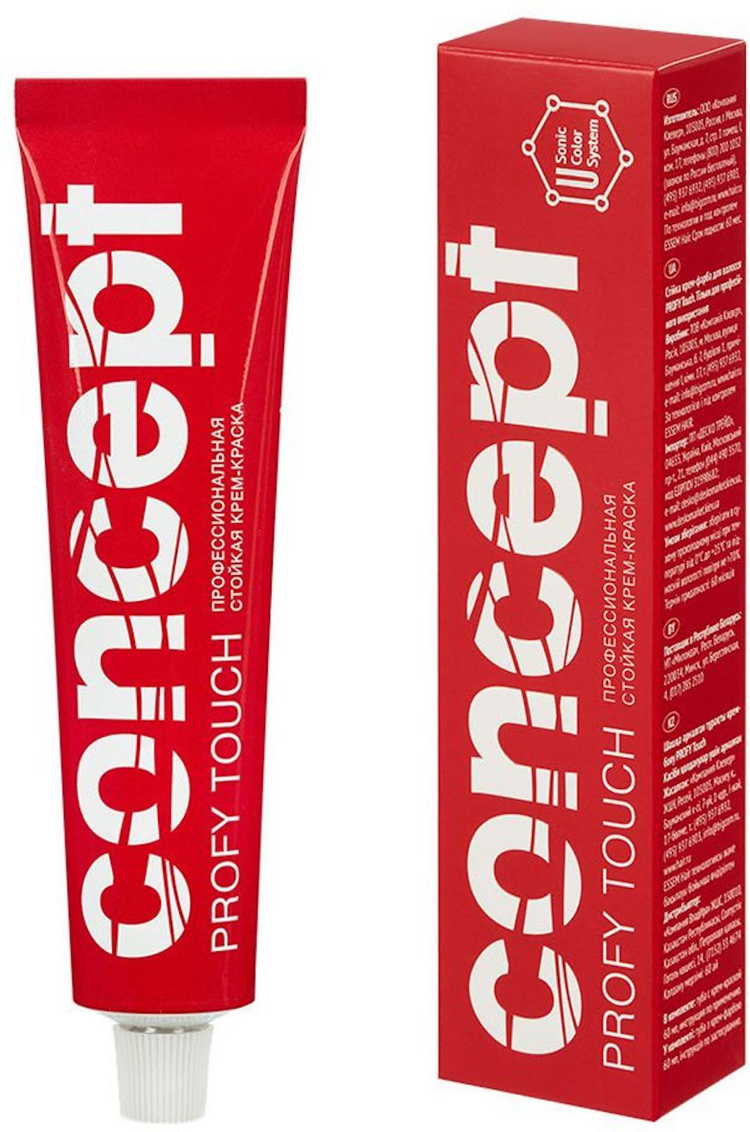 Стойкая крем-краска для волос Concept Permanent color cream PROFY Touch 4.73 Темный коричневый 33194 недорого
