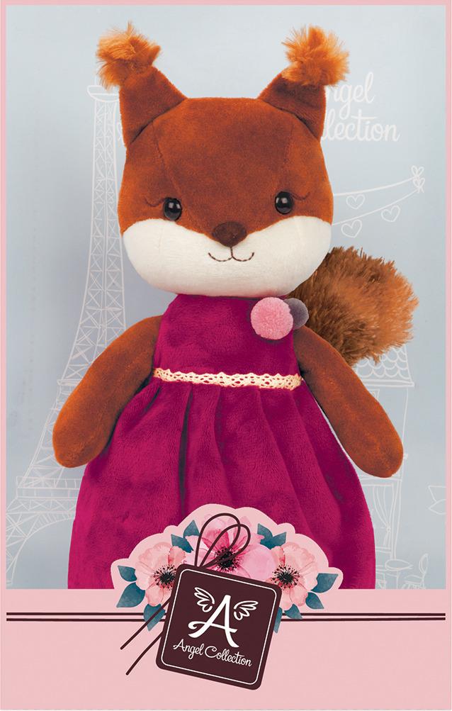 Игрушка мягкая Angel Collection Белочка Изабель, 681495, коричневый, в платье, 25 см цена