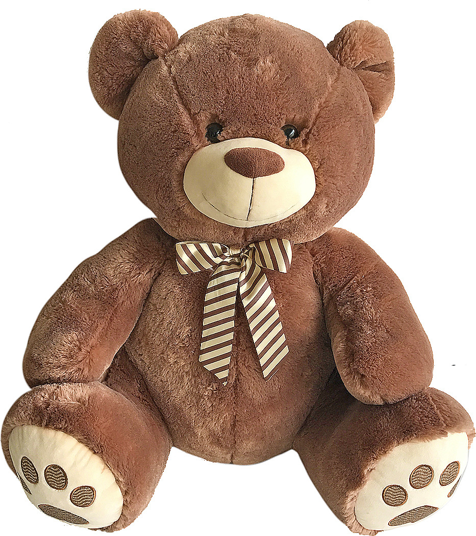 Игрушка мягкая Fluffy Family Мишка Бантик, 681510, коричневый, 60 см мягкая игрушка медведь fluffy family мишка бантик искусственный мех наполнитель коричневый 40 см