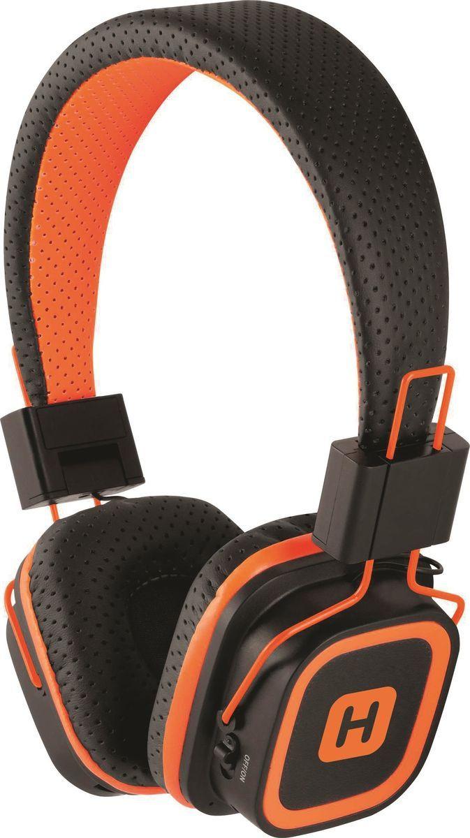 Беспроводные наушники Harper HB-311, черный, оранжевый