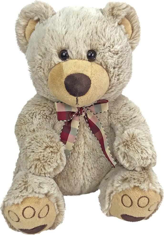 Игрушка мягкая Fluffy Family Мишка Карамелька, 681553, бежевый, 28 см мягкая игрушка медведь fluffy family мишка бантик искусственный мех наполнитель коричневый 40 см