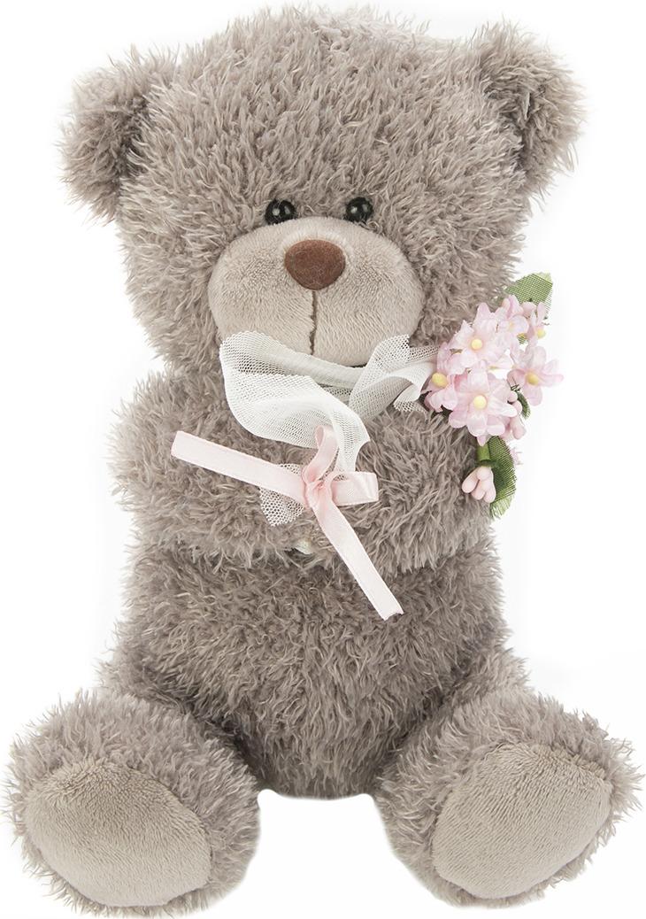 Игрушка мягкая Fluffy Family Мишка с букетом, 681559, серый, 20 см681559Очаровательный розовый медвежонок Зефирчик из трогательного семейства мягких игрушек Fluffy Family понравится и детям, и взрослой прекрасной половине человечества. Мягкая игрушка - подарок, который будет актуален во все времена.
