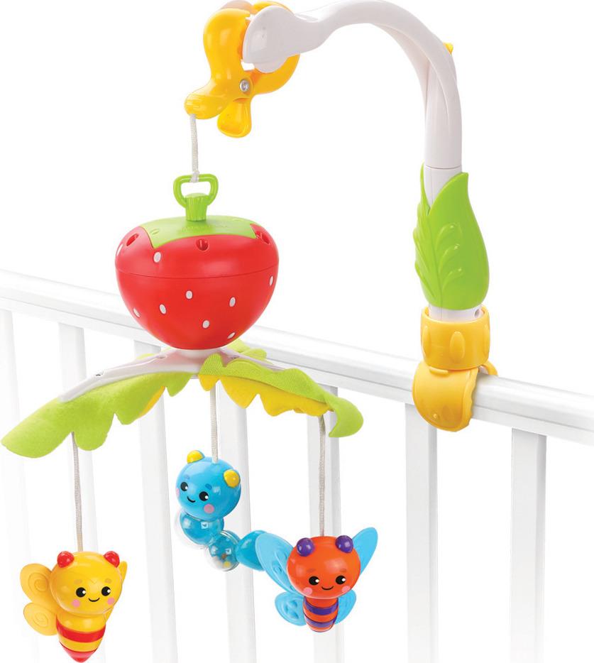 Развивающая игрушка Жирафики Мобиль Клубничка, 939601, мультиколор жирафики мобиль жирафики волшебная полянка