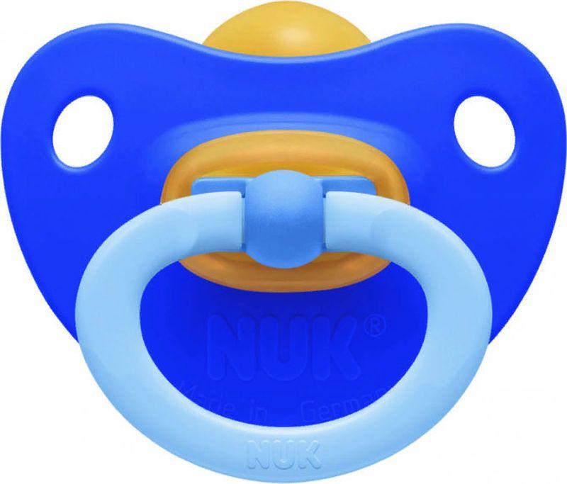 Пустышка NUK Soft, латексная, от 0 месяцев, 10725600-Синий пустышки nuk ортодонтическая латексная baby rose размер 1 0 6 мес
