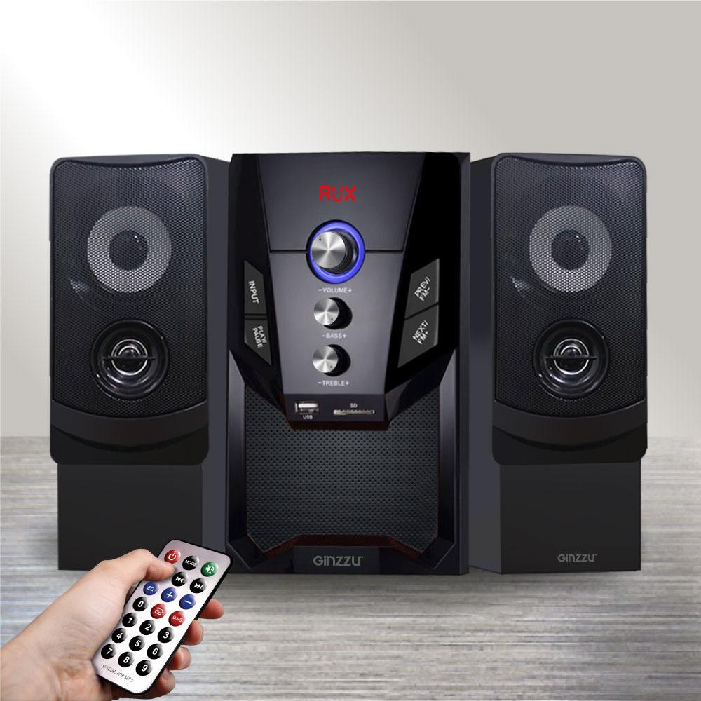 Компьютерная акустика Ginzzu, GM-415, черный royqueen m350 bluetooth портативный наружный сабвуфер tws interconnect fm радио мини портативный сабвуфер ipx6 водонепроницаемый заколдованный черный