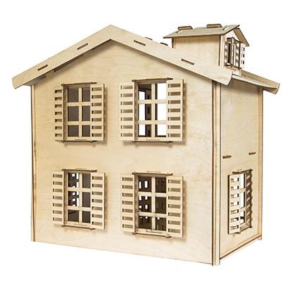 Дом для кукол Iq Format двухэтажный, для кукол LOL набор мебели игрушечный форма спальня