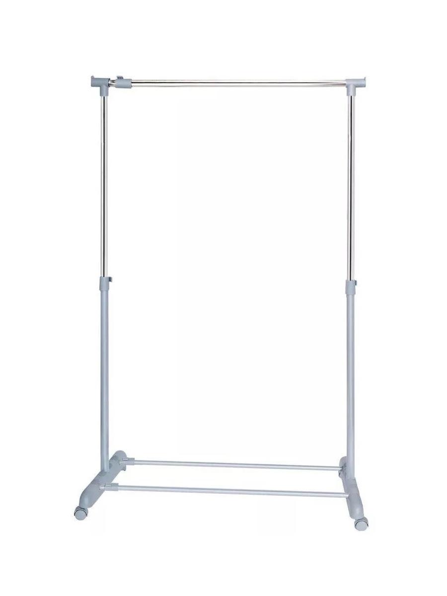 Стойка для одежды UniStor Напольная вешалка для одежды, на колёсиках Neil раздвижная напольная стойка, Хромированная поверхность вешалка напольная axentia galant д полотенец сталь хромированная на основании мрамор