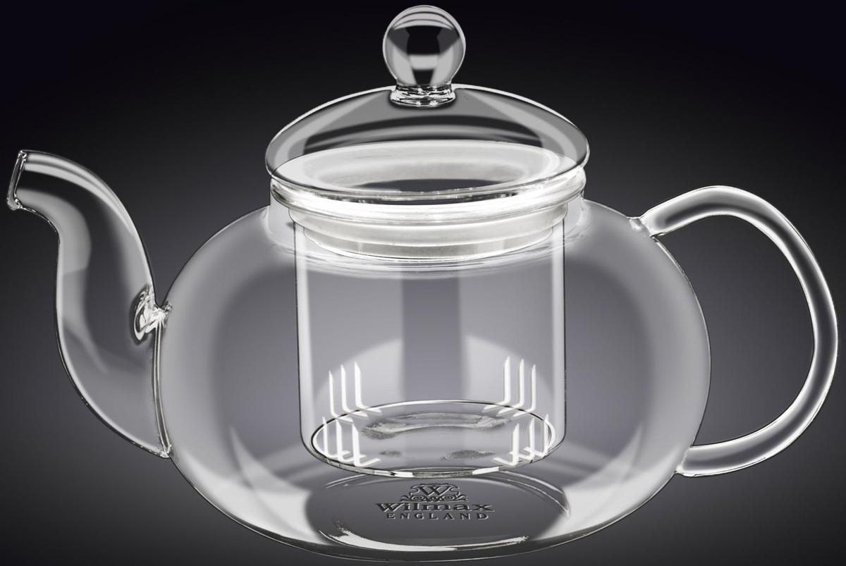 Чайник заварочный Wilmax, с фильтром, 620 млWL-888812 / AИзделия превратят обычное чаепитие в чайную английскую церемонию. Кроме изысканного внешнего вида, посуда из стекла очень практична, гигиенична.
