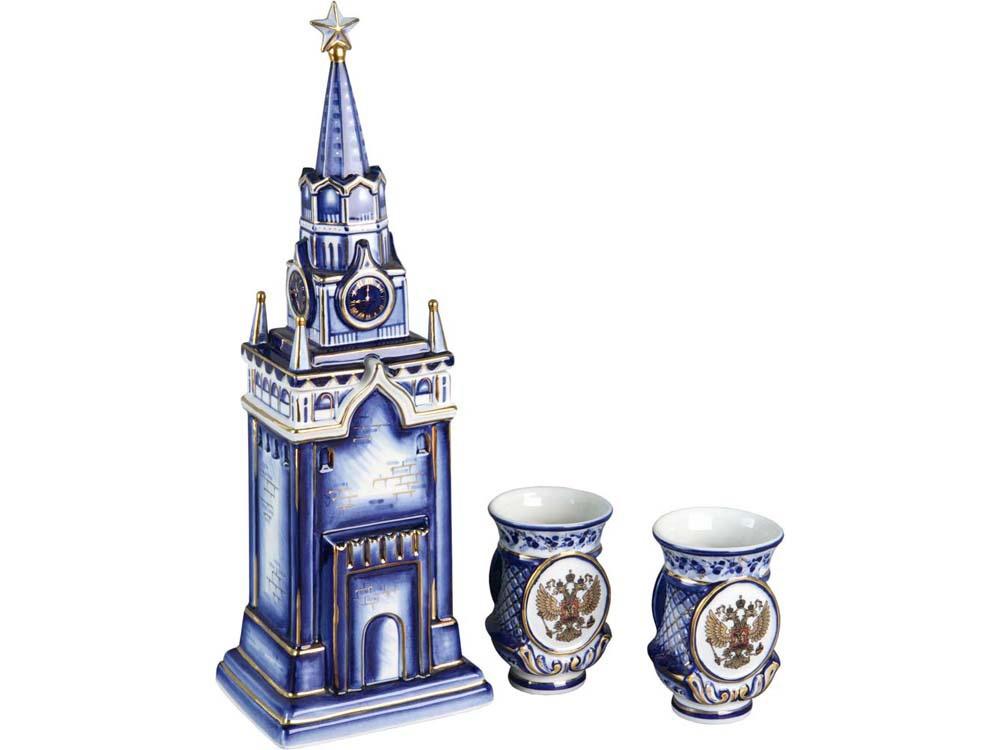 Набор для напитков Oasis «Кремль», 82734, синий82734Гжель – это один из традиционных российских промыслов. Всем нам знакома фарфоровая посуда и различные фигурки бело-синего цвета. Да, Гжель начиналась именно с этого. Но время шло, и российские мастера достигли невероятных высот в своем искусстве.
