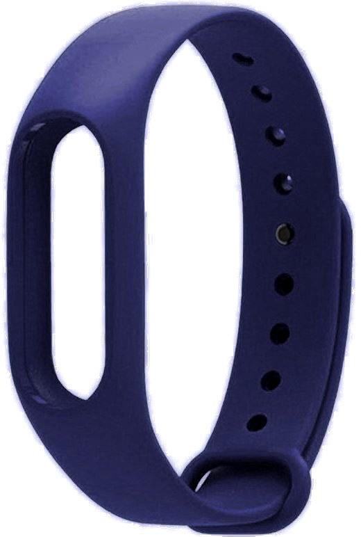 Ремешок силиконовый для фитнес трекера Xiaomi Mi Band 2 синяя ночь фитнес трекер xiaomi mi band 2