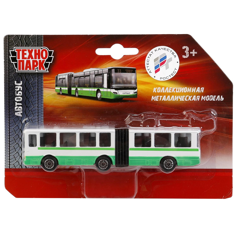 Машинка Технопарк Автобус-троллейбус с гармошкой, 253085 машинки технопарк троллейбус с резинкой технопарк металлический 12см
