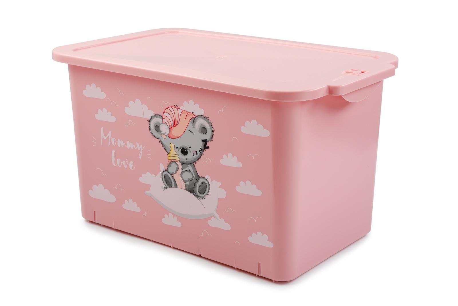 Ящик для игрушек Berossi Mommy Love, Гипоаллергенный пластик контейнер для игрушек pilsan сундук розовый 06 189