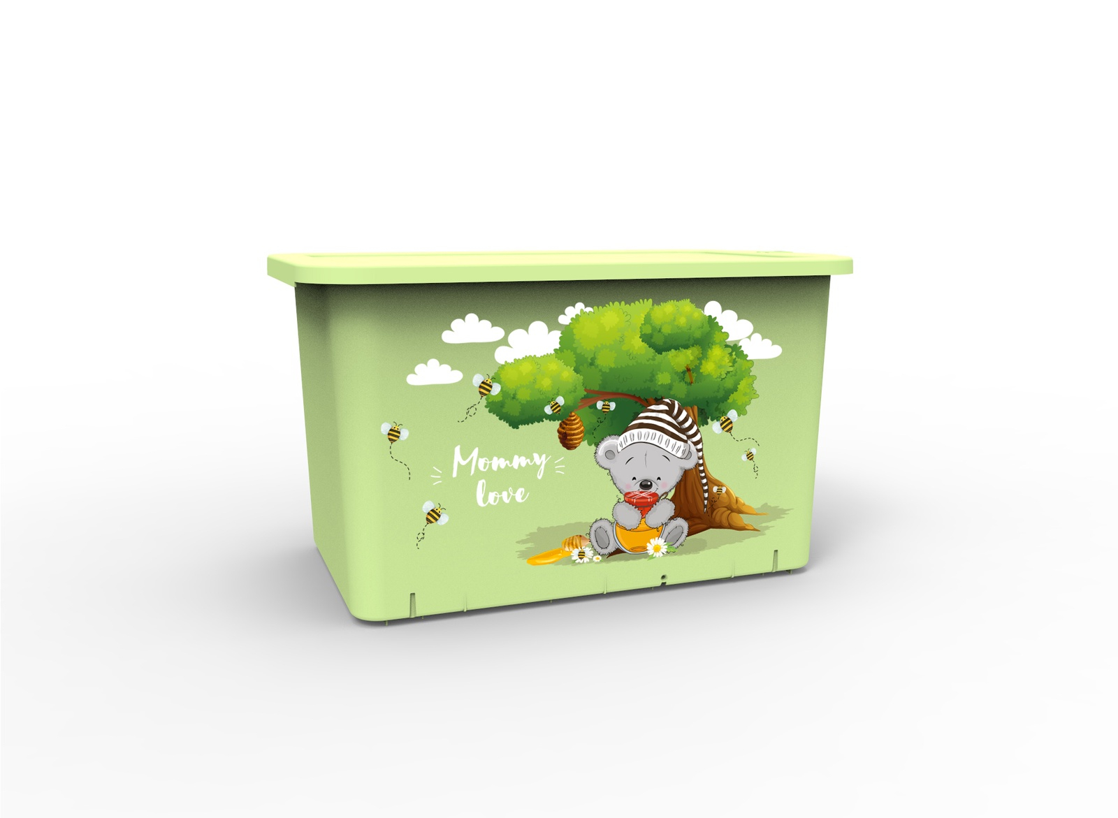 Ящик для игрушек Berossi Mommy Love, светло-зеленый ящики для игрушек альтернатива башпласт контейнер для игрушек феи