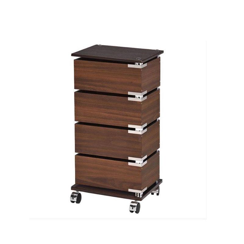 Этажерка с 4-мя поворотными ящиками, FLF007-4LW этажерка с деревянными полочками pristin ws004