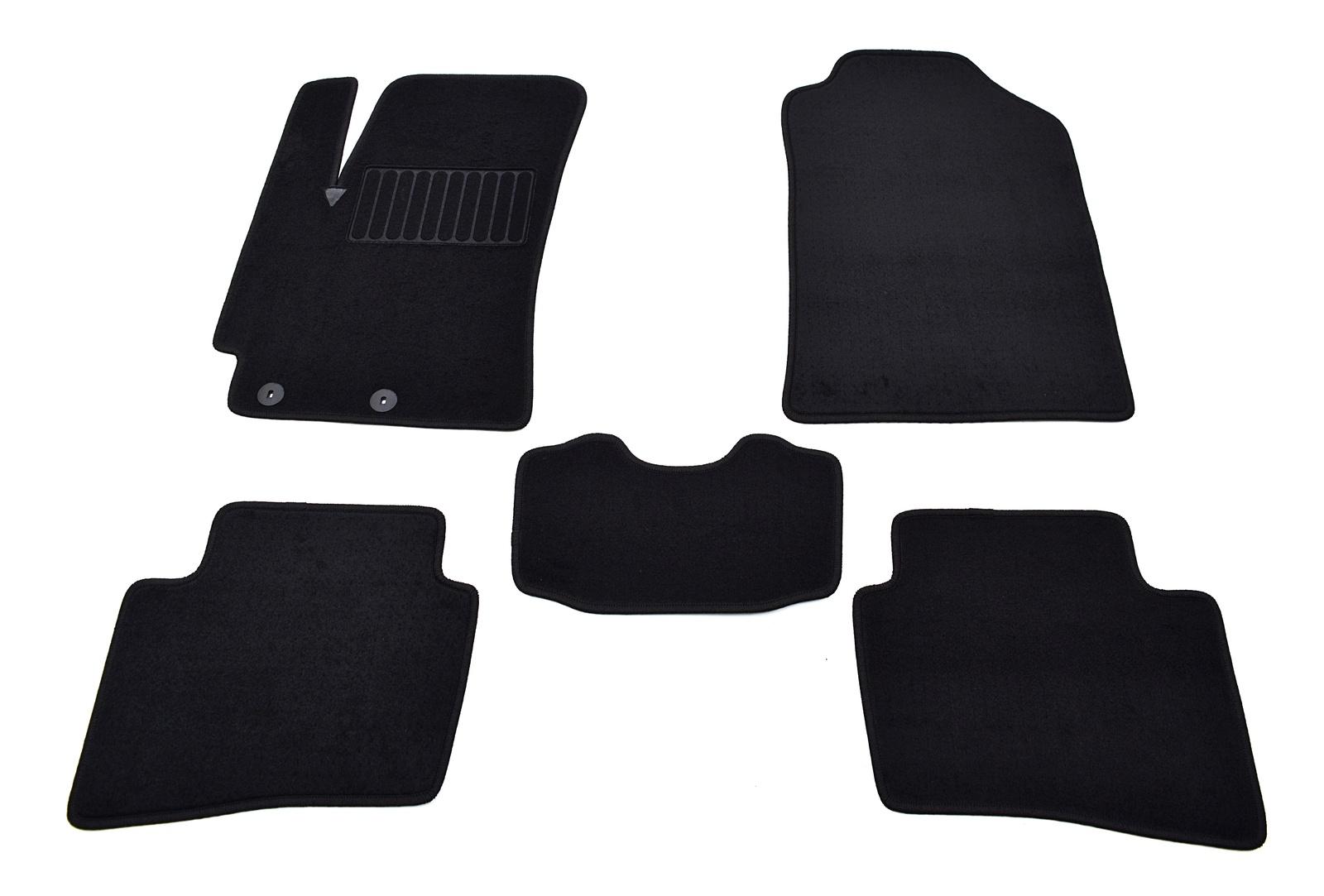 Коврики в салон автомобиля SV Design, для kia sorento, 2009-2012, 7 местные, с 3-рядом, 2945-unf3-16m, текстильные, черный