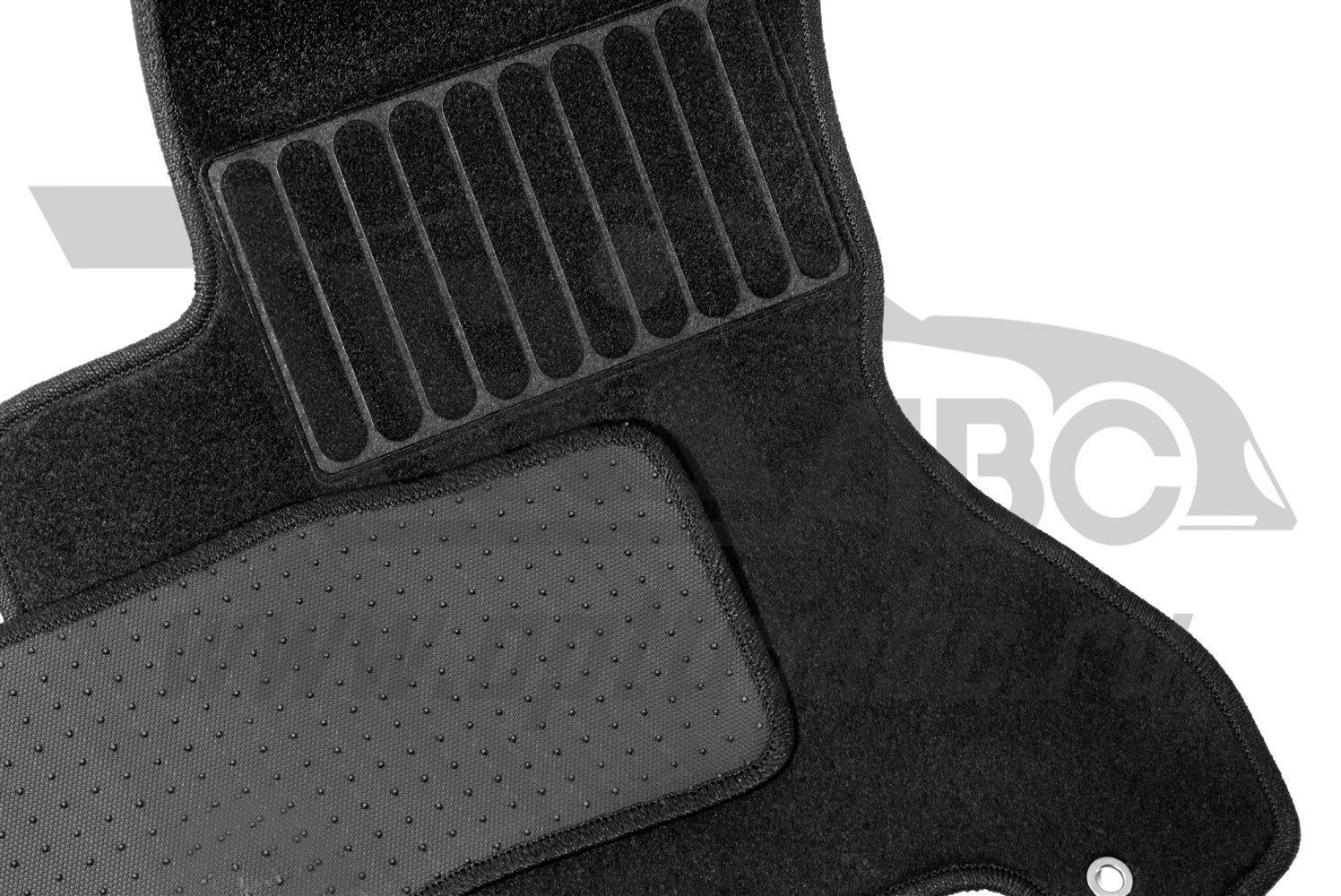 Коврики в салон автомобиля Avtodriver резиновые с бортиком для Chevrolet Cobalt (2012-) / Ravon R4 (2016-), Adrplr008, черный коврики в салон автомобиля avtodriver для great wall hover h5 2010 adravg019 резиновые с бортиком черный