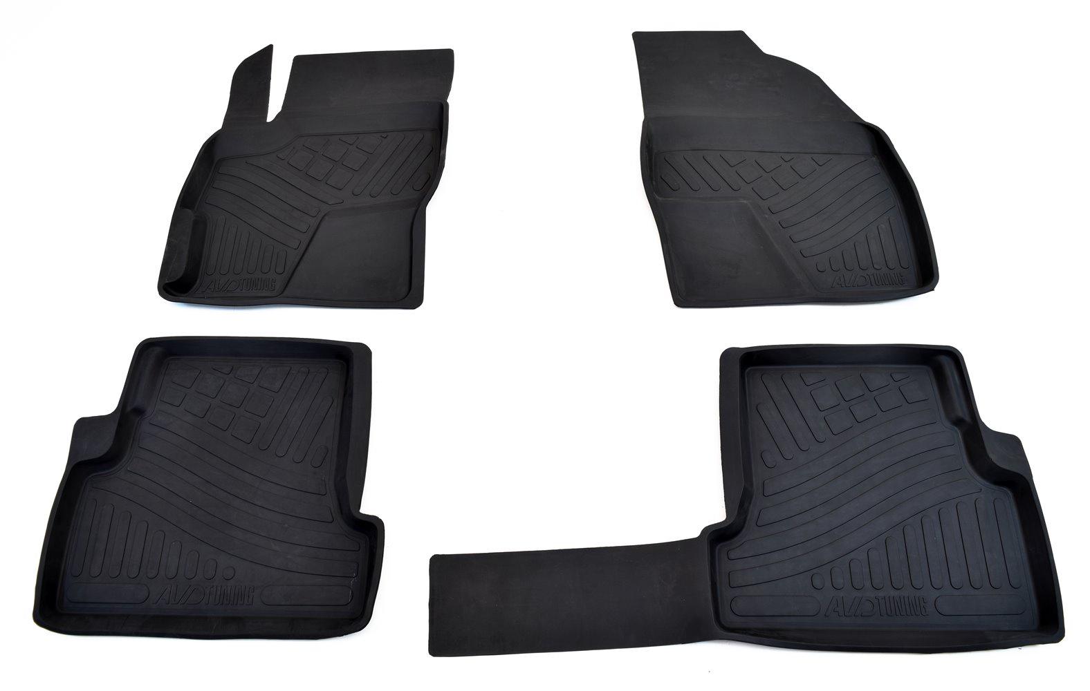 Коврики в салон автомобиля Avtodriver резиновые с бортиком для Chevrolet Orlando (из 7-ми) (2011-), Adrplr017, черный коврики салона avtodriver для mercedes benz e klasse w212 2007 adravg155 резиновые с бортиком черный