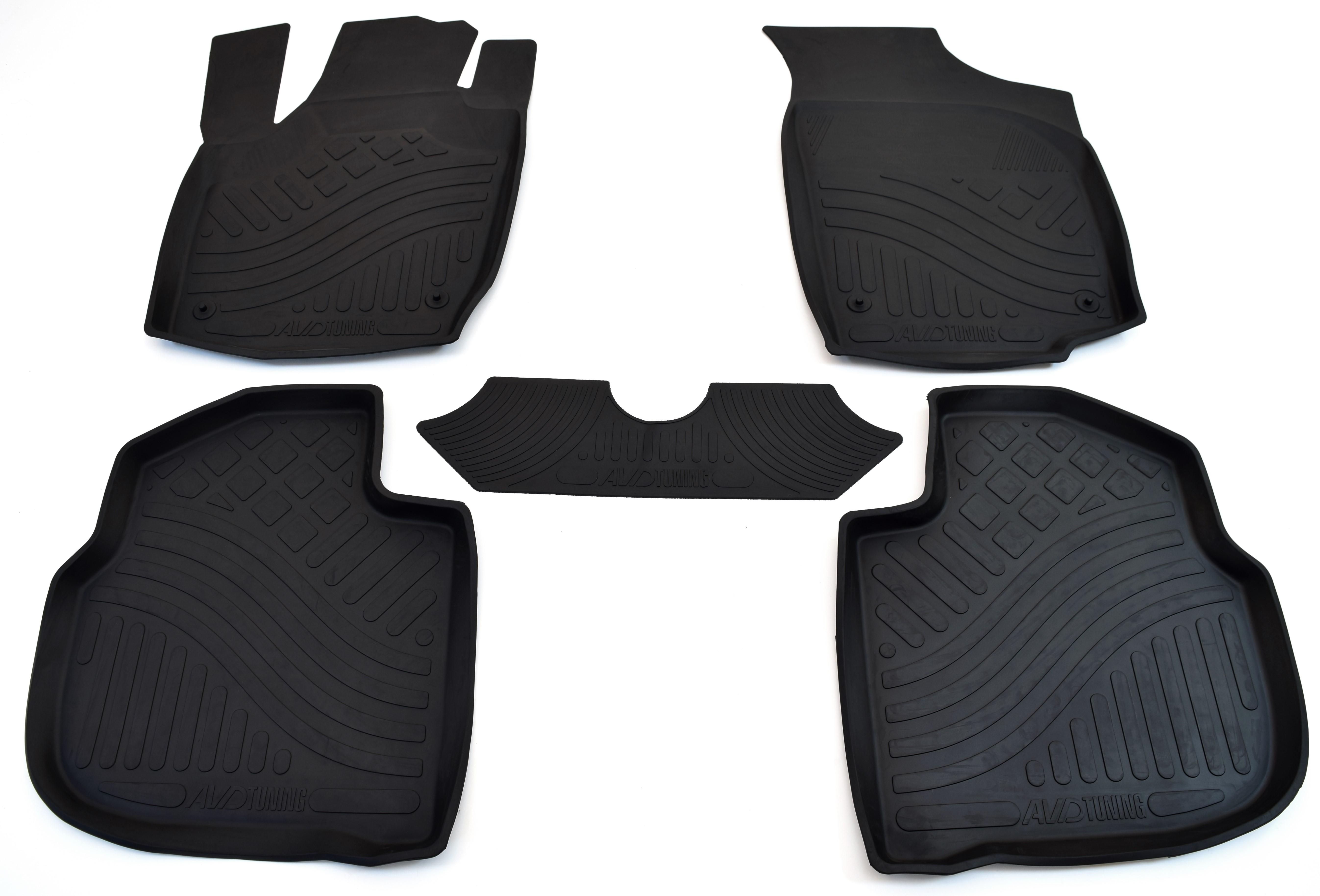 Коврики в салон автомобиля Avtodriver резиновые с бортиком для Chevrolet Aveo (2003-2011), Adrplr285, черный коврики салона avtodriver для mercedes benz e klasse w212 2007 adravg155 резиновые с бортиком черный