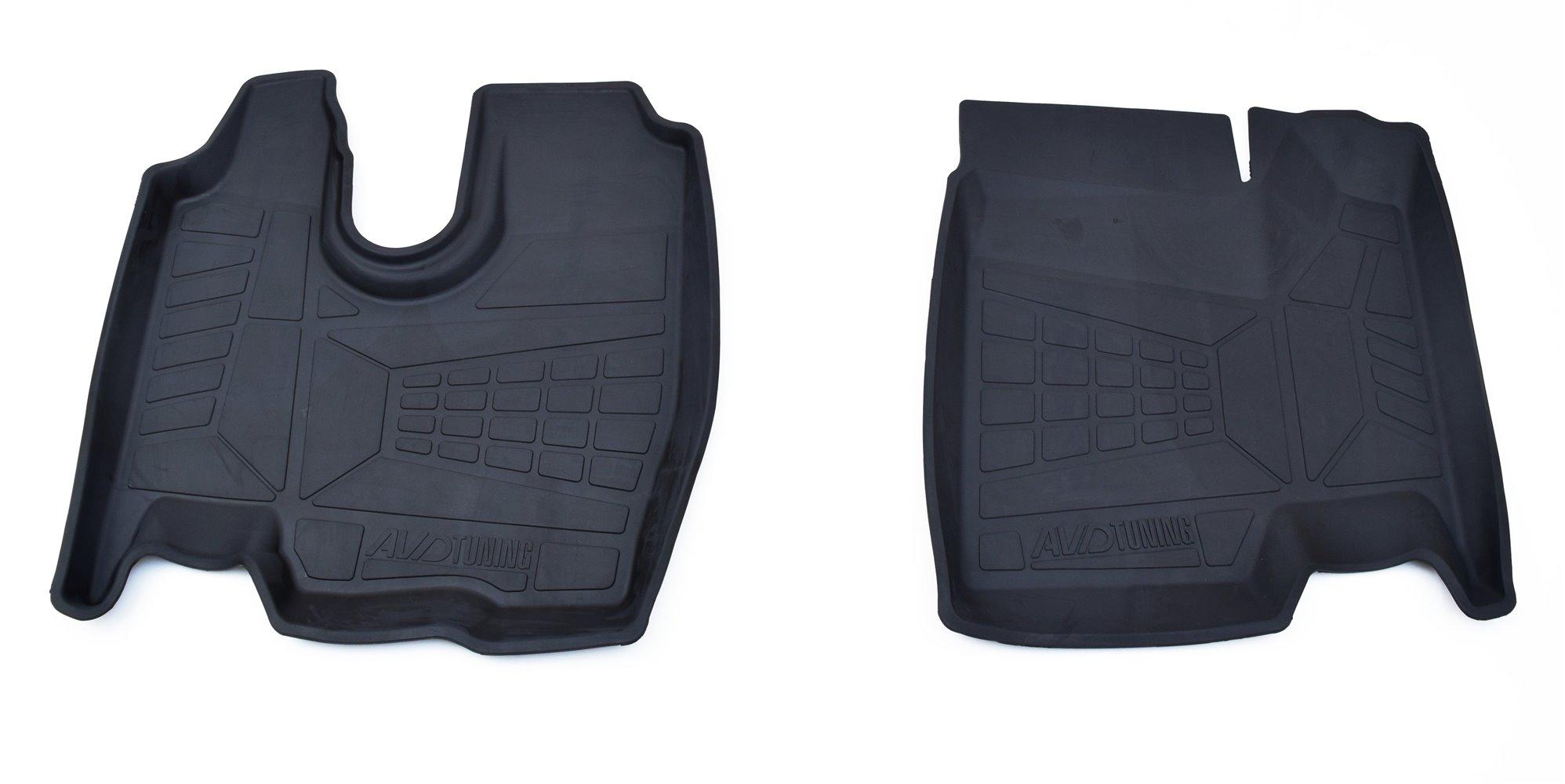Коврики в салон автомобиля Avtodriver резиновые с бортиком для Chevrolet Nivа (2002-), Adrplr0232, черный коврики салона avtodriver для renault duster передний привод 2011 adrjet023 резиновые с бортиком черный