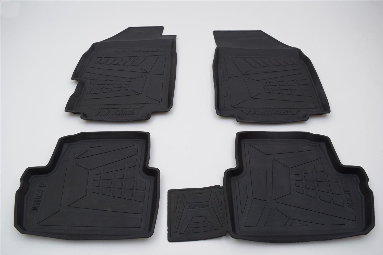 Коврики салона Avd Tuning для Renault Duster (2015-) adrplr280, резиновые, с бортиком коврики салона avtodriver для renault duster передний привод 2011 adrjet023 резиновые с бортиком черный