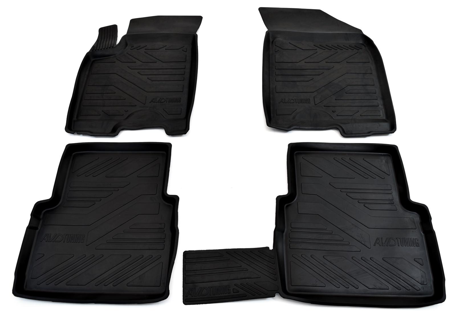 Коврики салона Avd Tuning для Renault Duster 4 wd (2011-2015) / Nissan terrano 4wd (2014-) adrplr279, резиновые, с бортиком коврики салона avtodriver для renault duster передний привод 2011 adrjet023 резиновые с бортиком черный
