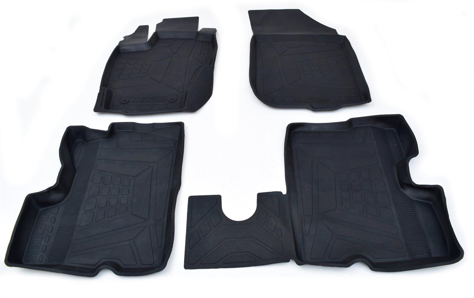 Коврики в салон автомобиля avd tuning для lada xray (2016-) с бортиком, adrplr295, черный, 4 шт коврики в салон автомобиля avd tuning для volkswagen passat в8 2014 adrplr230 резиновые с бортиком черный