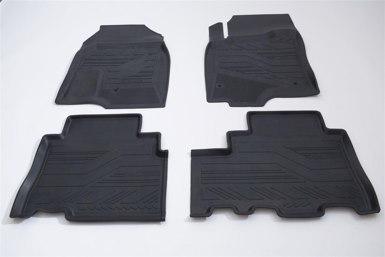 Коврики в салон автомобиля AVD Tuning, для ВАЗ Гранта, Калина, 2011-, adrplr301, резиновые, с бортиком, черный коврики салона avtodriver для renault duster передний привод 2011 adrjet023 резиновые с бортиком черный