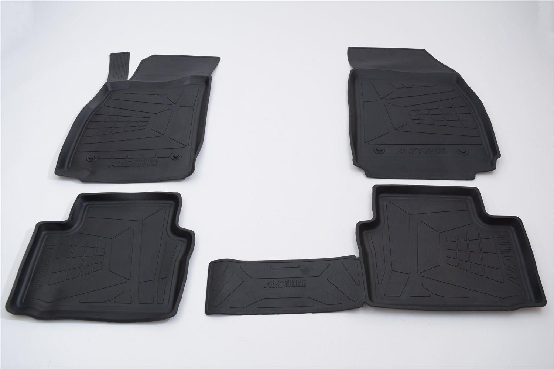 Коврики в салон автомобиля AVD Tuning, для volkswagen passat В7, 2010-2015, adrplr289, резиновые, с бортиком, черный