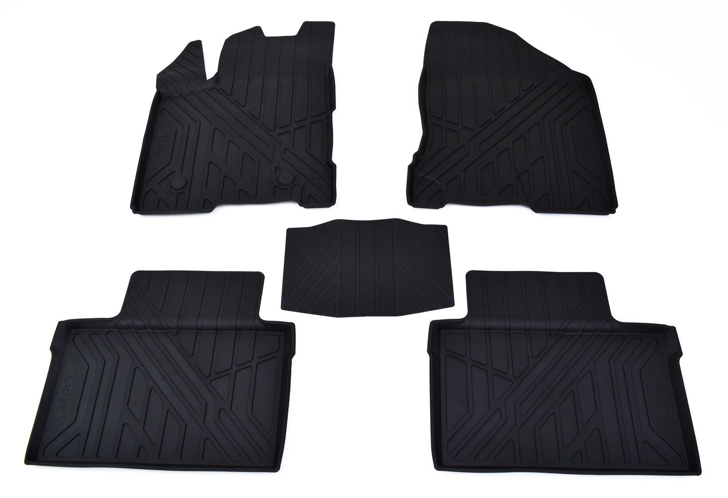 Коврики в салон автомобиля Avtodriver литьевые для Kia Sportage (Ql) (2015), Np11-Ldc-43-525, черный gm ldc 300o