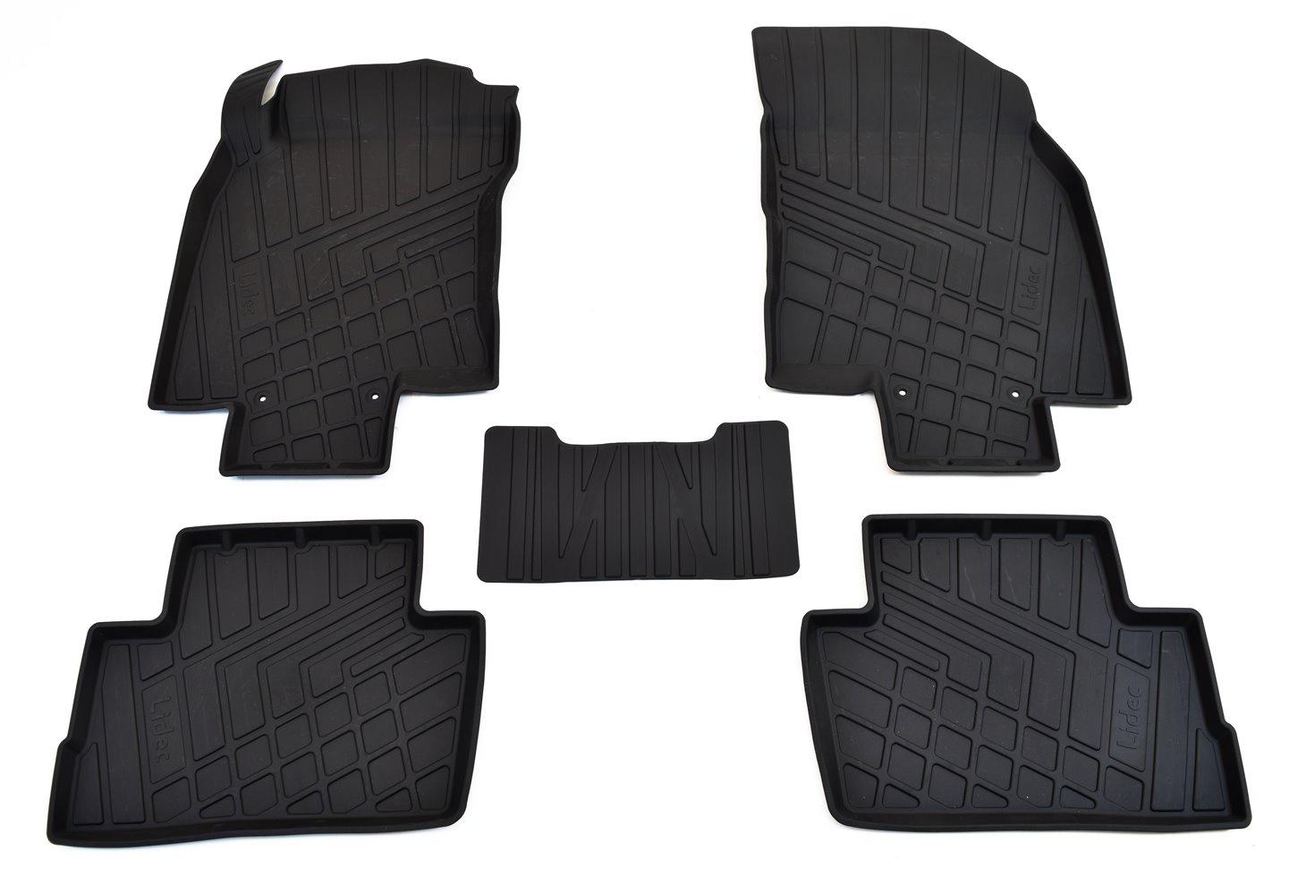 Коврики в салон автомобиля Avtodriver литьевые для Vaz Lada Kalina (2004), Np11-Ldc-94-080, черный gm ldc 300o