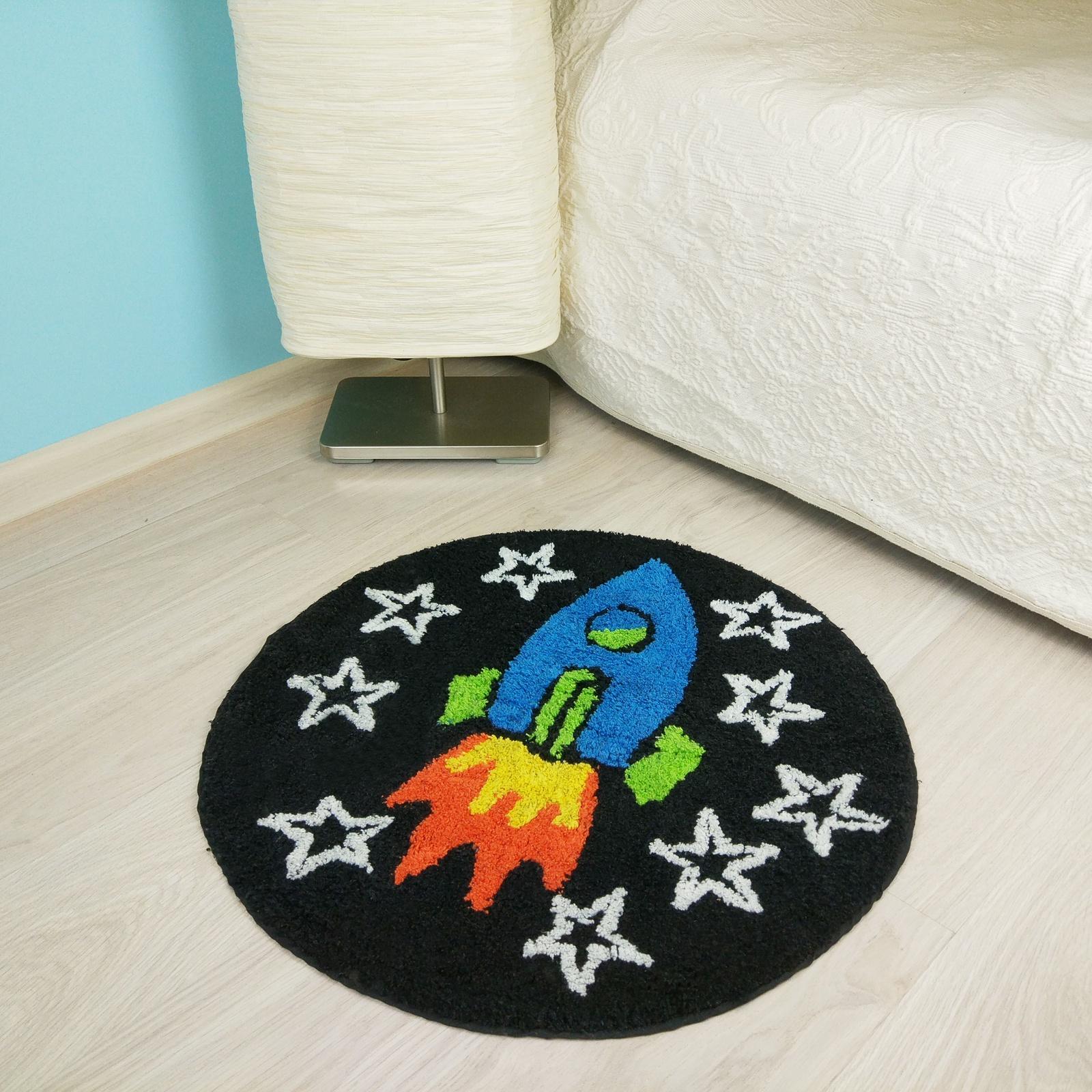 Фото - Коврик Arloni Ракета, 1208.4, 70 х 70 см arloni коврик самотканный для ванной