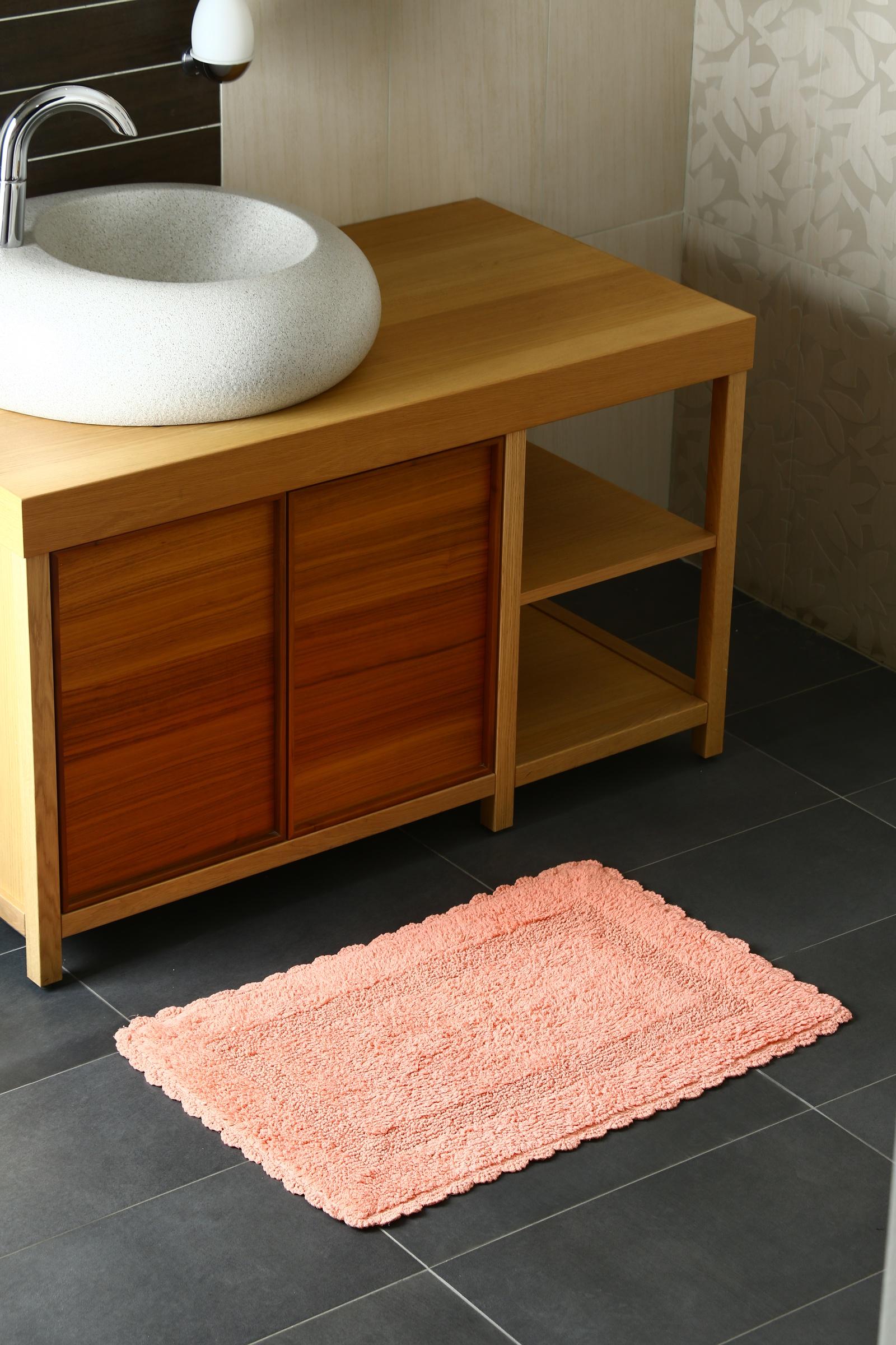 Фото - Коврик для ванной Arloni Коврик Лейс (коралл) с кружевом 50х80 arloni коврик самотканный для ванной