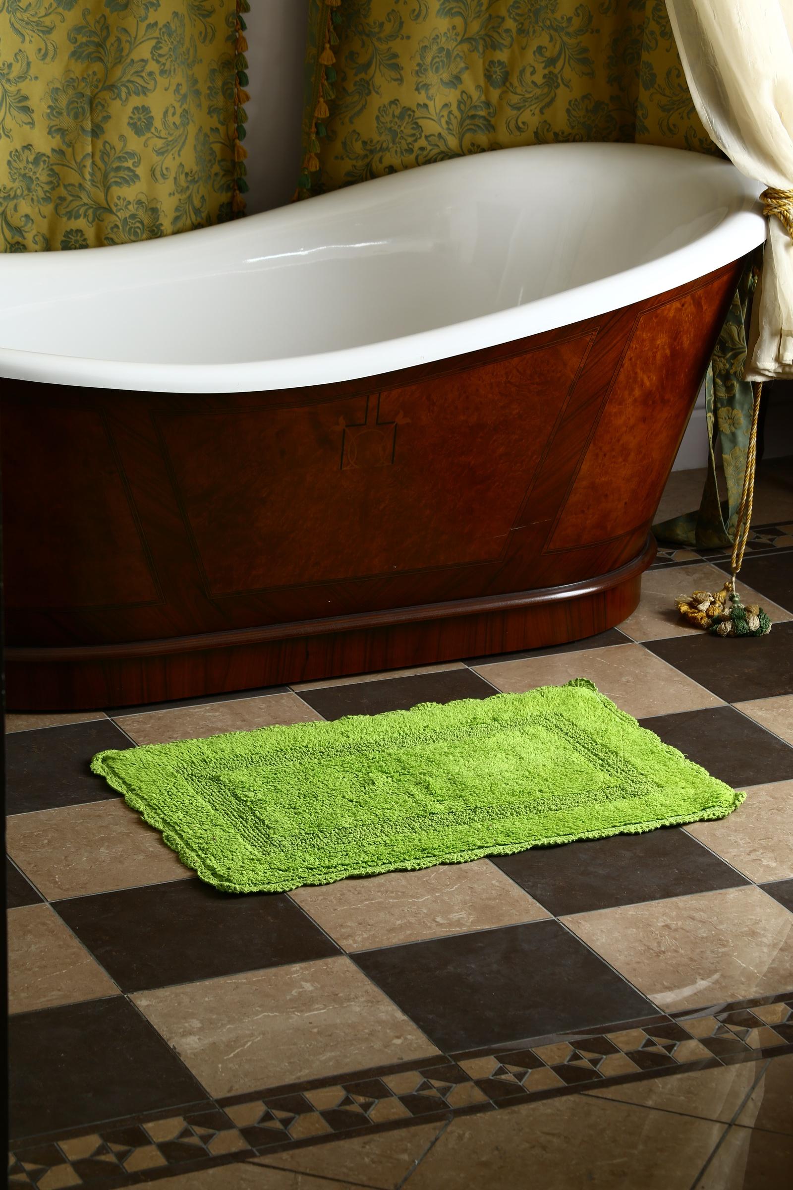 Фото - Коврик Arloni Лейс, 1215, с кружевом, 50 х 80 см, лайм arloni коврик самотканный для ванной