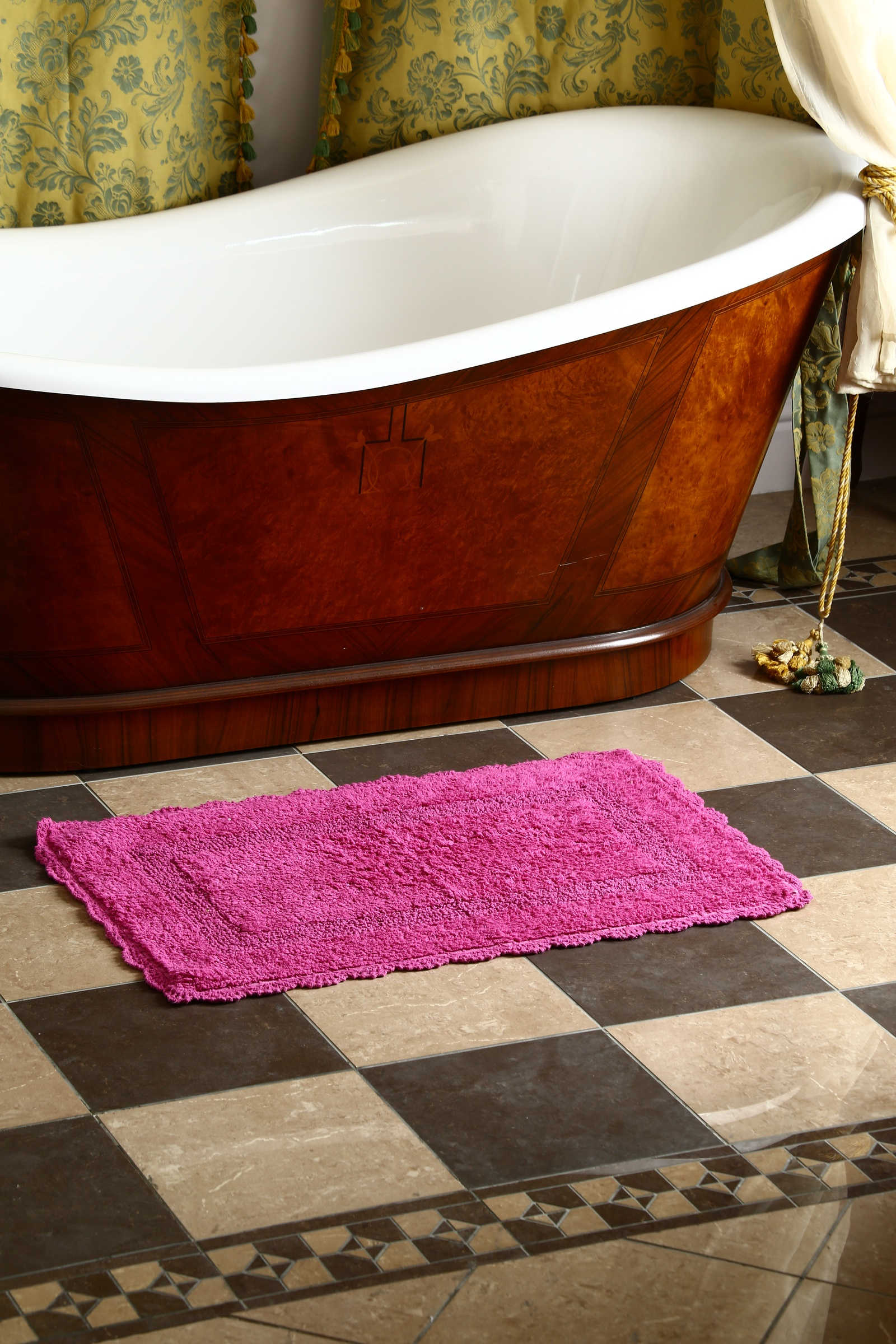 Фото - Коврик для ванной Arloni Коврик Лейс (малина) с кружевом 50х80 arloni коврик самотканный для ванной